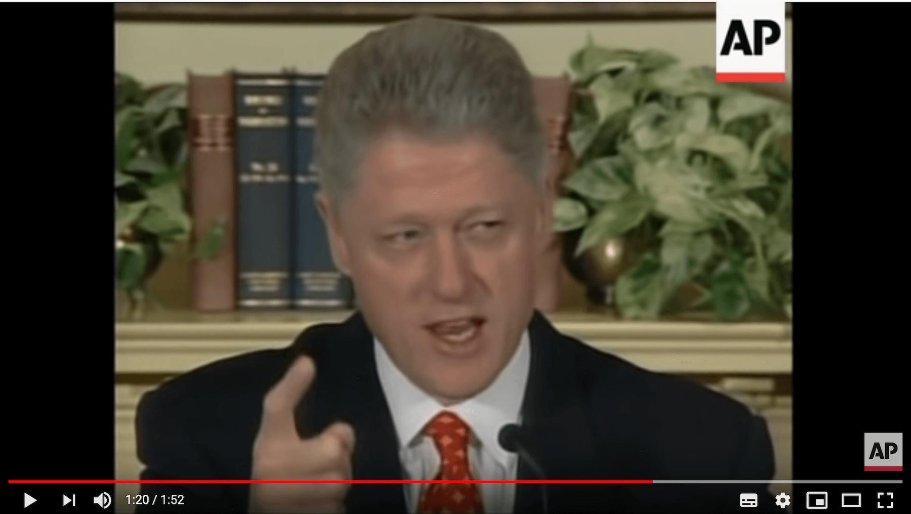 Bill Clinton Luegen Video zur Monica Lewinsky Affäre