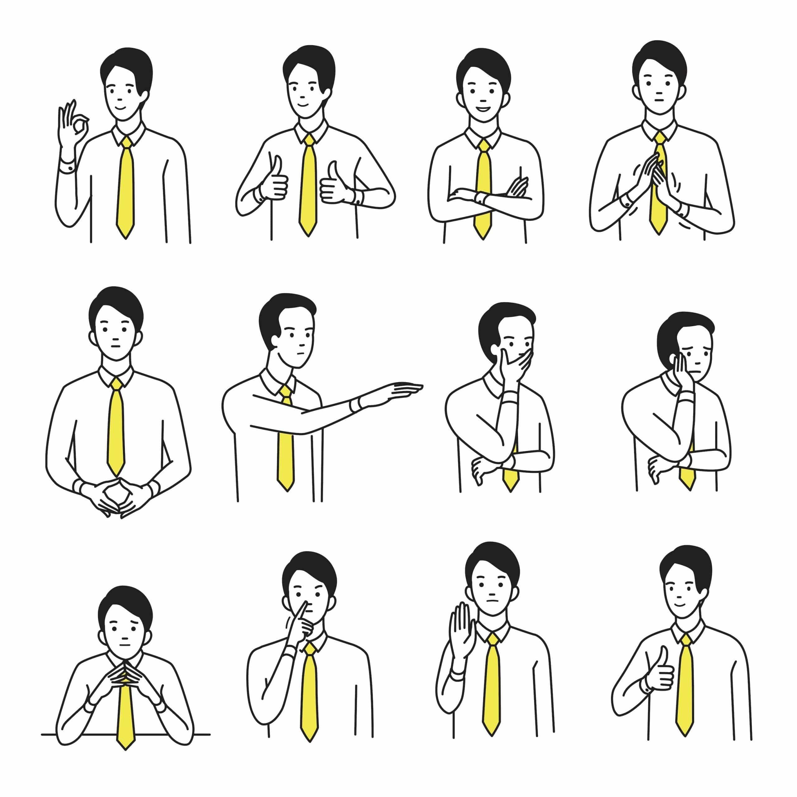 Nonverbale kommunikation gestik beispiele